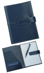 Blue Leather Pad Cover,Corporate Gifts